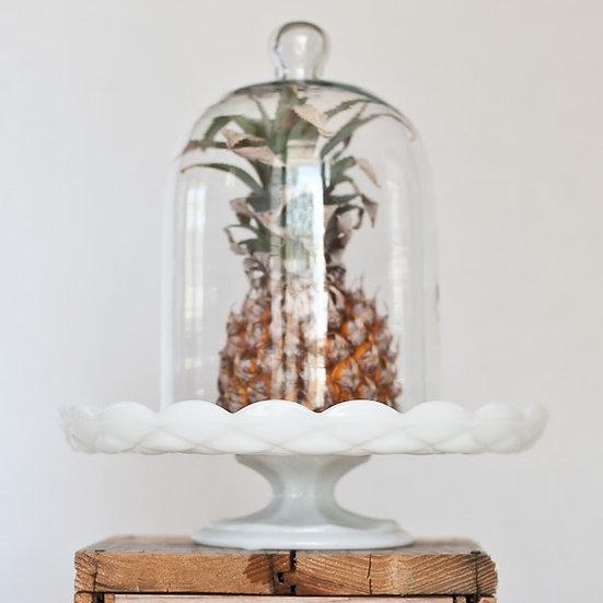 Vintage Milk Glass Cake Stand