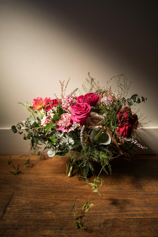 Bridal Bouquet Rich Colours and Textures