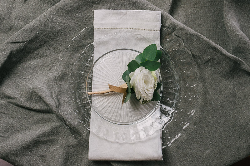 White Linen Napkins (decorative border)