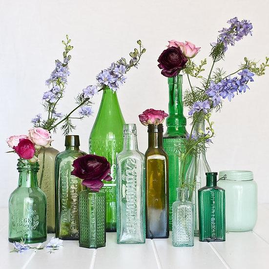 Original Vintage Glass Bottles
