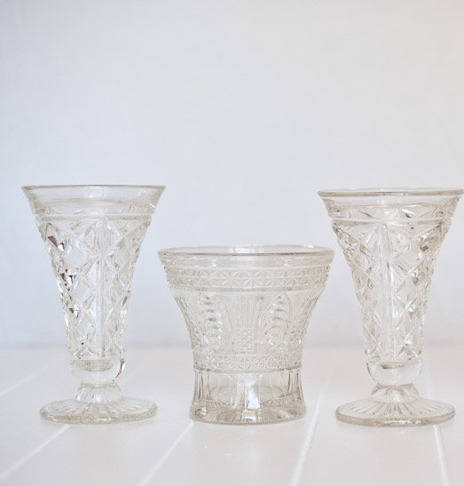 Vintage Crystal Large Vase