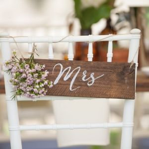 Rustic Wooden Signage - Mr or Mrs