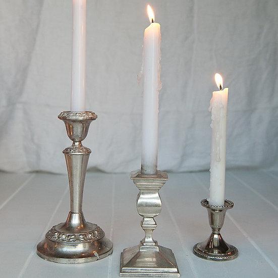 Vintage Silver Candle Holder