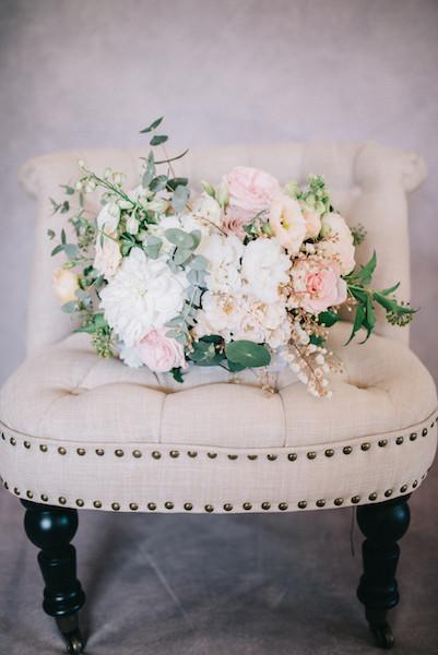 French Linen Boudoir Chair