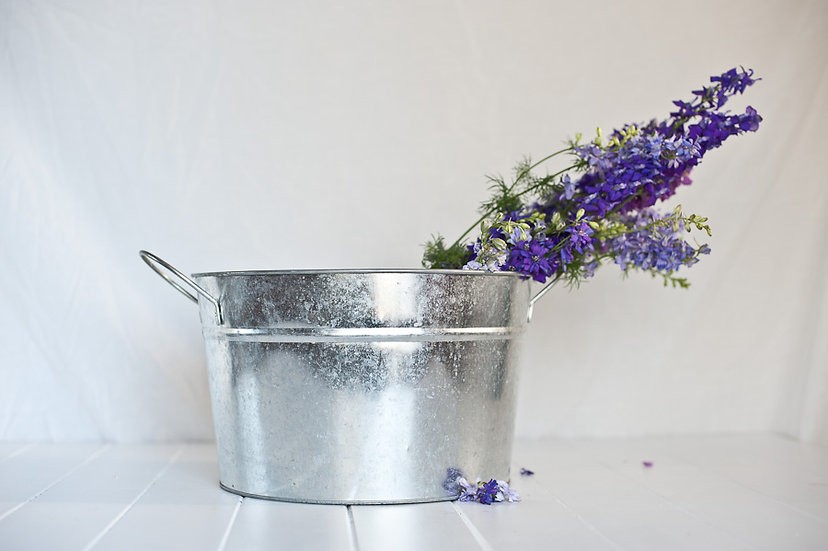 Rustic Tin Bucket Collection of 4