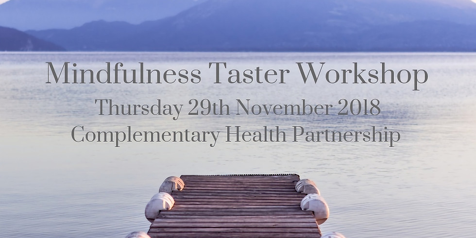 Mindfulness Taster Workshop for Health & Wellbeing