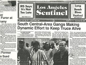 JT - LA Gang Truce LA Sentinel Front Pag