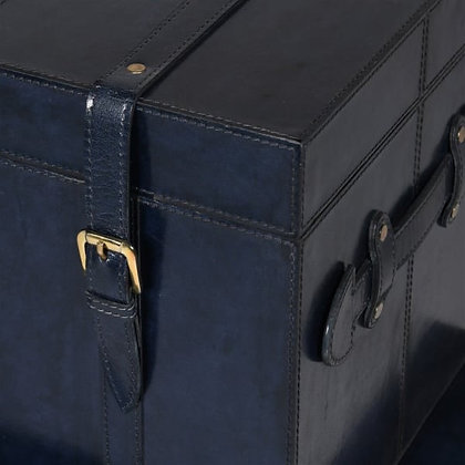 Stunning Two piece Navy Trunks on Gold Stand