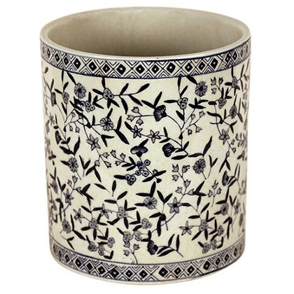 Planter with Flower Pattern