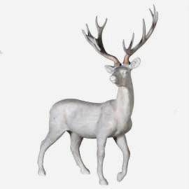 Grey Standing Deer