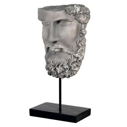Socrates Head On A  black Base