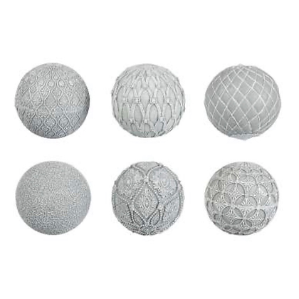 Decorative Grey Balls in set of 6