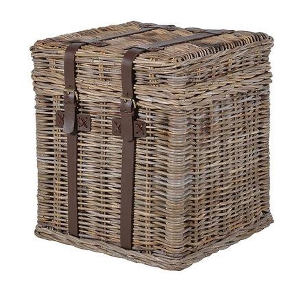 Woven Coastal style Basket  end Table