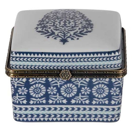 Square Box in Blue and White