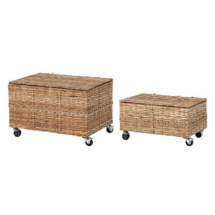 Basket  With Lid  & wheels (two set )