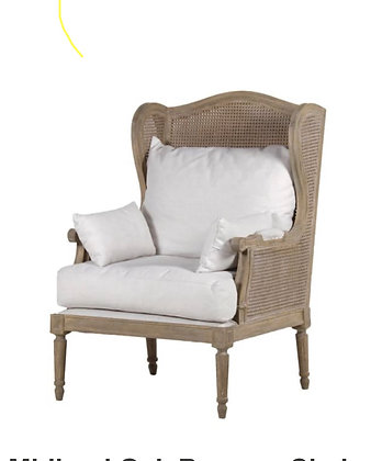 Cane wingback chair