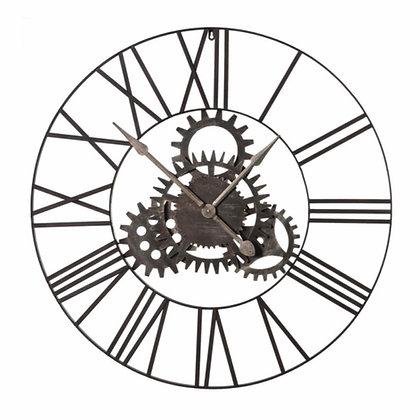 Large cogs metal clock