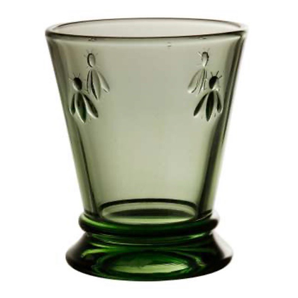 Green Glass Goblet in set of 6