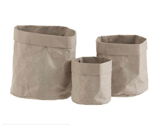 Craft Paper  grey flowerpots set of 3