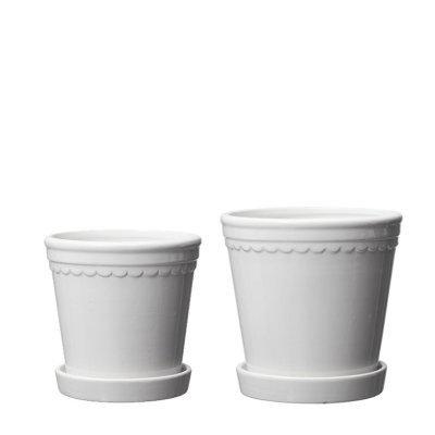 Set of two flowerpots