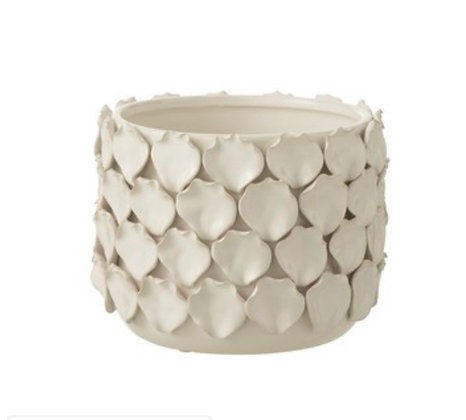 Petal  Flower Pot  White Vase