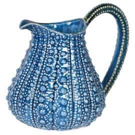 Urchin Effect Blue Ceramic Jug