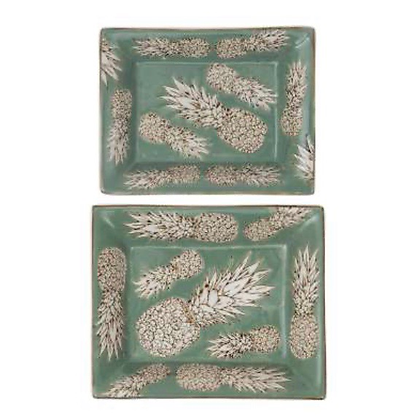 Pineapple Trays set of two