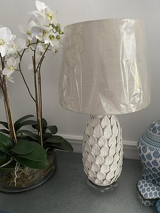 Ceramic leaf lamp