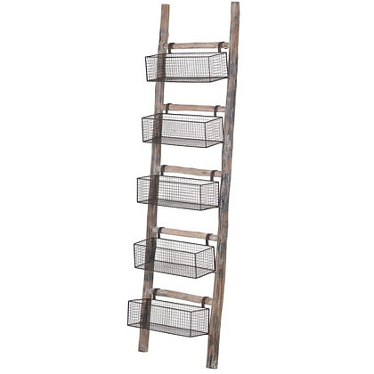 Ladder with 5 baskets