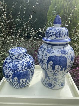Two blue /white ginger Jar Bundle .