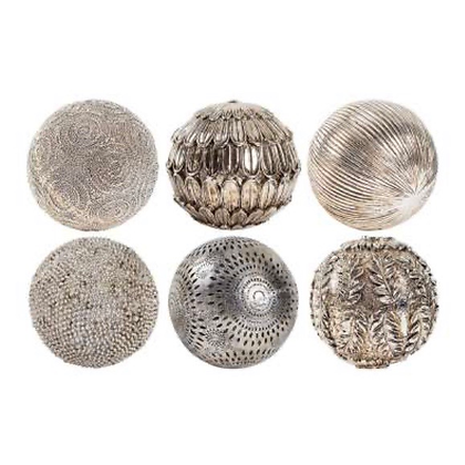 Decorative Balls in Bronze in group of 6