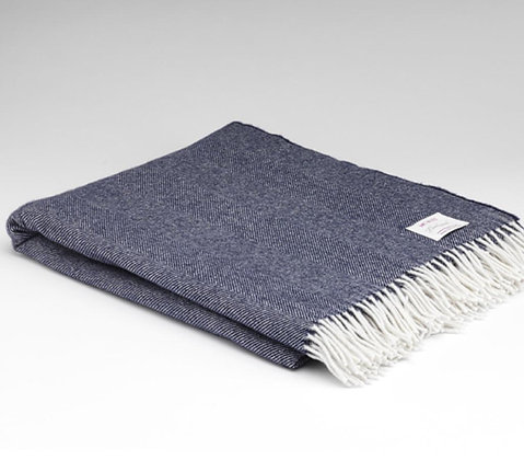 Lambswool Throw Navy