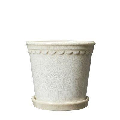 White scallop flower pot