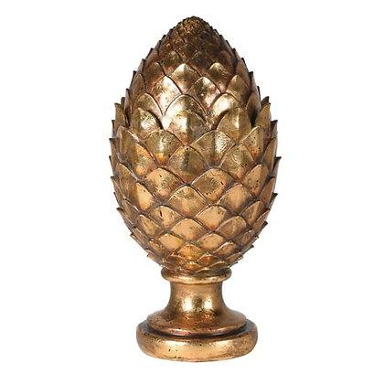Gold  artichoke jar