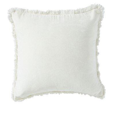 White cushion 45x45cm with fringe