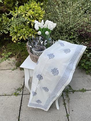 Grey print tablecloth