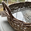 Thumbnail: Wicker /ratten  oval Basket tray with glass insert
