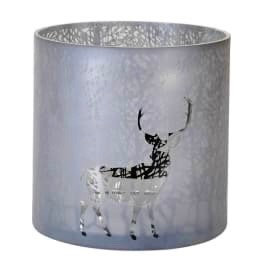 Lantern  Frosted with Forrest & Deer