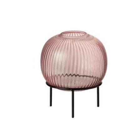 Pink vase Small on Black Strand