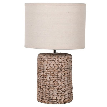 Woven lamp with shade small