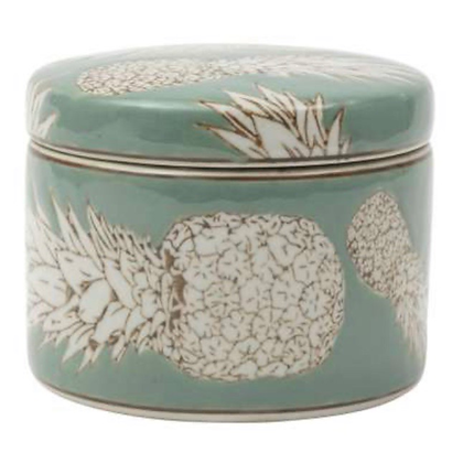 Trinket Box with Printed Pineapples