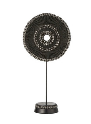Small Black Bead Ornament on Stand