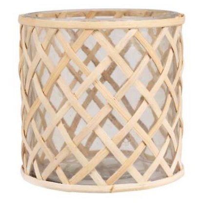 Rattan Hurricane Lattern in 3 Sizes