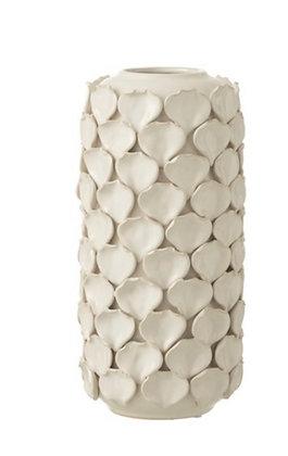 Large Petal White Vase
