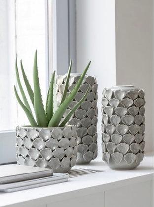 Small Grey Petal Vase