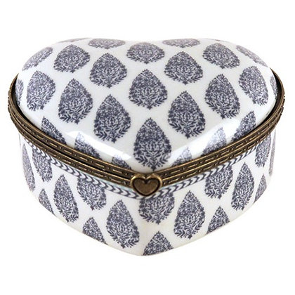 Heart Shaped Box with Paisley Design