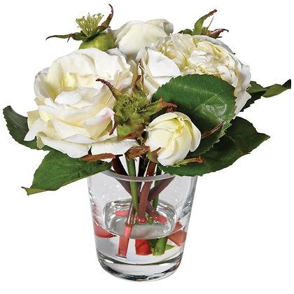 Cream Roses in Tumbler