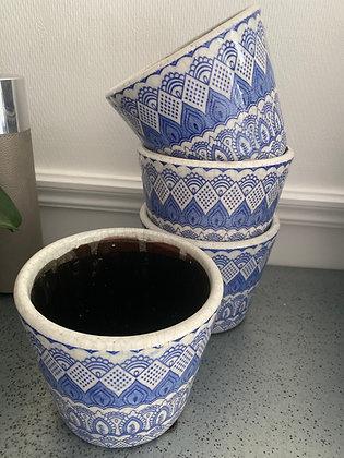Blue /white Flower Pot