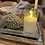 Thumbnail: Two set tray with Decorative Med pine cone & Remote controlled led candle