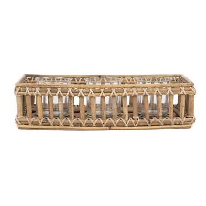 Rattan Tealight Holder